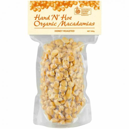 Organic Macadamia Nuts - Honey Roasted