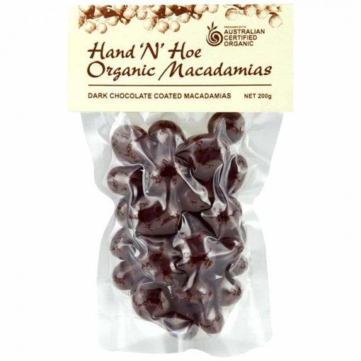 Organic Macadamia Nuts - Dark Chocolate Coated