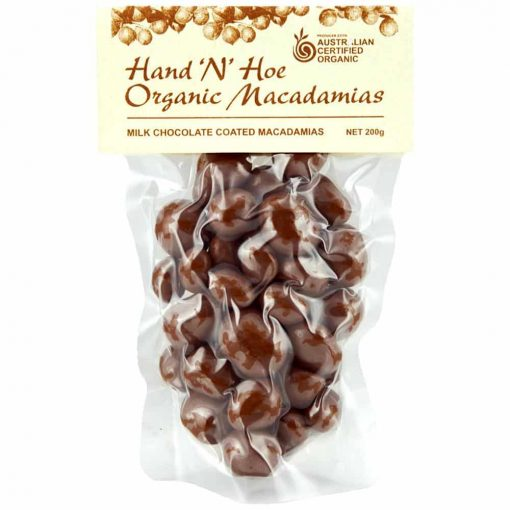 Organic Macadamia Nuts - Milk Chocolate Coated