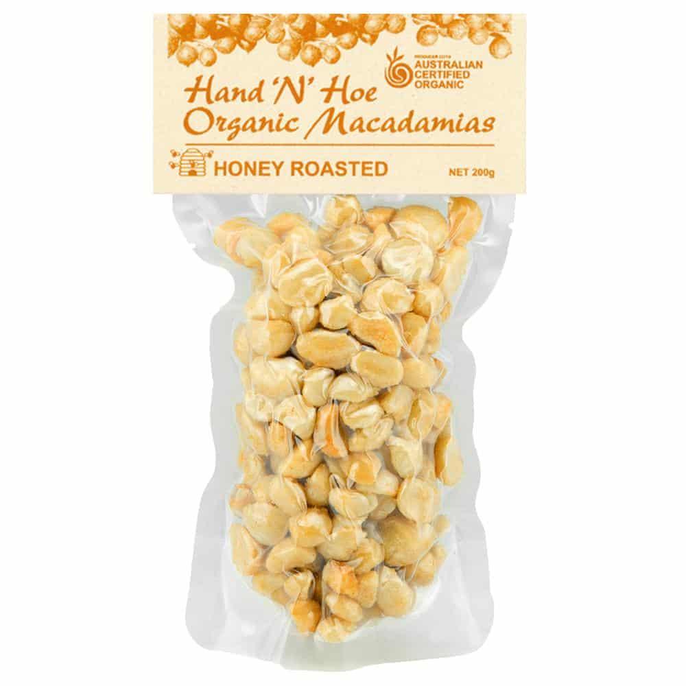 Organic Macadamia Nuts - Honey Roasted